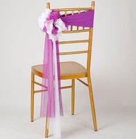 krawatte stuhl bankett großhandel-Fliege Stuhl Schärpen Lycra Stuhl Bands Hotel Bankett Dekor Hochzeitsfest Dekoration