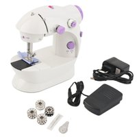 Wholesale household mini sewing machine resale online - 1pc Home Use Multifunction Electric Mini Sewing Machine Household Desktop With LED New Popular Mini Sewing Machine GPS