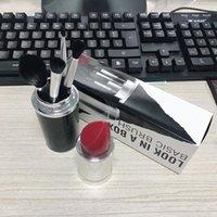 bases d'ombres à paupières achat en gros de-4pcs pinceau de maquillage ensemble brosse de base avec rouge à lèvres barils fards à paupières poudre pour les lèvres pinceaux nouveautés livraison gratuite