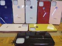 ingrosso lastre di vetro iphone-Cellulare Casi per il telefono mobile iPhone11 antigraffio guscio iPhone vetro temperato 7 / 8plus bordo placcatura XS MAX
