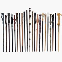 Wholesale stick wands for sale - Group buy Harry Potter Magic Wand Styles Cosplay Harried Dumbledore Voldmort Magical Sticks With Black Box Party Favor OOA7328