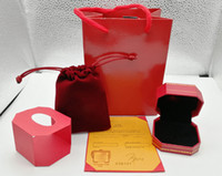 New arrive fashion Rings boxes bags packing jewelry Red color box jewelry box packing to choose
