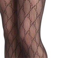 bayanlar ipek çoraplar toptan satış-Seksi Bayanlar Tasarımcı Mektubu Ipek Çoraplar Marka Çorap kadın Çorap Moda Çorap Seksi Şeffaf Izgara Çorap Kadın Çorap
