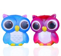 Wholesale Squishy cm Owl Jumbo Kawaii Squeeze Bird Animal Cute Soft Slow Rising Phone Strap Squeeze Break Kids Toy Relieve Anxiety Fun Gift