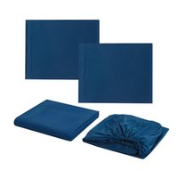 Wholesale fitted sheet set king size for sale - Group buy Home Luxury Bed Sheets Set Microfiber Thin Solid Flat Sheet Size Twin Full Queen King Cal King Fitted Sheets Colors