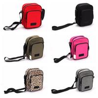 Wholesale pink travel bags resale online - Pink Black Colors Unisex Shoulder Bags Casual Travel Fanny Pack Travel Chest Bag Boys Girls Phone Money Pocket Mini Bag