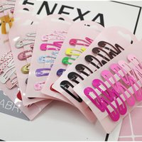 Wholesale types hairpins resale online - 150PCS New Lovely Cartoon Heart Type Metal Candy Color Kids Headwear Children Accessories Baby BB Clips Girls Hairpins Hair Clip