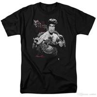 ingrosso camicia dragon kung fu-Estate 2017 Famous Brand Bruce Lees Inserisci il drago Kung Fu Movie T Shirt Camicie da uomo Abbigliamento uomo Novità Cool