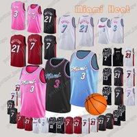 ac65580fa Miami Jersey Heat Dwyane 3 Wade Goran 7 Dragic Hassan 21 Whiteside Jerseys 7  Mbappe Adult Embroidery Logos