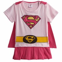 Wholesale wonder woman costume parties for sale - Group buy Baby Girl Wonder Woman Costume Rompers with Cape Newborn Robin Girl Bat Girl Playsuits Infant Party Fancy Sailor Moon Dresses