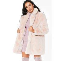 abrigo largo de invierno para niñas al por mayor-Invierno mujer suelta mullido abrigo de piel sintética niñas rosa rompevientos grueso cálido peludo chaqueta de manga larga abrigo de gran tamaño femenino