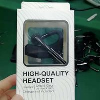 коробка для наушников оптовых-Высокое качество Bluetooth-гарнитура для наушников CSR4.2 Бизнес-стерео наушники с микрофоном Беспроводной универсальный голосовые наушники с пакетом Box
