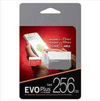 2019 Top Selling Black EVO Plus 64GB 32GB 128GB 256GB 100Mbps (U3) Memory Card with Free SD Adapter Blister Package Fast Speed