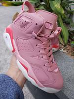 toile de fleur achat en gros de-2019 chaussures de designer 6s fleurs de cerisier rose femmes chaussures de basket-ball haute coupe baskets sport baskets en plein air avec la taille de la boîte 36-40
