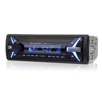 usb adaptörü 12v otomatik toptan satış-12V LCD Ekran Hi-Fi, Bluetooth Fonksiyonlu Uzaktan Kumanda Araba Oyuncu Araç USB AUX MP3 Adaptörü Oto FM stereo radyo