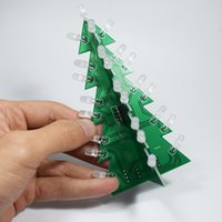 Wholesale electronic tree resale online - Diy Star Effect Stereo Led Decoration Christmas Tree Christmas Handmade Gifts Electronic Hobby Decoration Christmas Tree