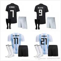 ef66319d1 MEN 2018 soccer jersey KITS Argentina World Cup MESSI DYBALA Argentina home  Away AGUERO DI MARIA HIGUAIN 18 19 football shirts Free shippin