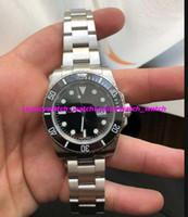 ingrosso scatola di orologio nero del mens-Luxury Watch Box quadrante nero in ceramica lunetta 116610 16610 bracciale in acciaio inossidabile automatico uomo orologi da polso blu luminoso orologio da polso