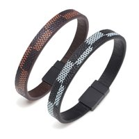 Wholesale new style bracelet male resale online - New Simple Men s Punk Rock Style Popular Women Bracelets Magnet Hand Made Man Leather Bracelet for Male Accessories Gift