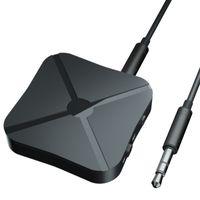 transmisor de audio bluetooth para tv al por mayor-Capitán América 3.5mm Audio Inalámbrico Bluetooth 4.2 Receptor Transmisor 2 en 1 Adaptador de Audio Estéreo para TV Altavoces para Coche Música