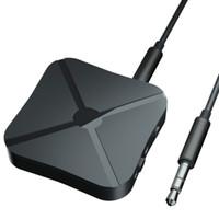 araba tv alıcıları toptan satış-Kaptan Amerika 3.5mm Ses Kablosuz Bluetooth 4.2 Verici Alıcı 2 1 Adaptör TV Araba Hoparlör Müzik için Stereo Ses