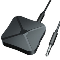 bluetooth tv ses vericisi toptan satış-Kaptan Amerika 3.5mm Ses Kablosuz Bluetooth 4.2 Verici Alıcı 2 1 Adaptör TV Araba Hoparlör Müzik için Stereo Ses