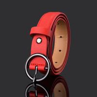 ingrosso cintura in pelle di cioccolato-Kids Girls Casual Belts 2019 Nuovi colori solidi Pantaloni in pelle PU Cintura in metallo Ago fibbia bambini Tutto-fiammifero cinturino in vita cintura Y2671