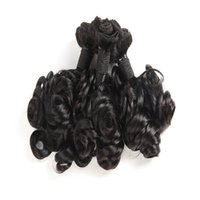 Wholesale Rose Curly Aunty Funmi Hair Weaves Bundles Brazilian Virgin Human Hair Extensions Top Grade Pure Black Color inch