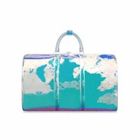 ingrosso sacchetti di pvc-borsa del progettista della borsa borse di lusso 50 centimetri Keepall Laser PVC trasparente Duffle Bag Brilliant Color bagagli borsa da viaggio di grande capacità