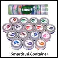 ingrosso adesivo del contenitore-Barattoli di latta sigillati SmartBud Machine 15 Sapori Contenitore di erbe aromatiche da 3,5 grammi Contenitore di vasi di budello intelligente con adesivi aromatici