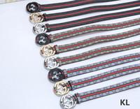 ingrosso cinture di ferro signore-33vlone yueezus Europa e Stati Uniti moda esplosioni tela moda Wave point fibbia in ferro cintura da uomo cintura da donna PALY