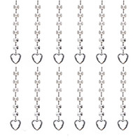 Wholesale curtains beads crystals resale online - 20pcs Clear Acrylic Crystal Diamond Beads Pendant Strand Curtain Wedding Party Decorations Hanging Light Drop Ornaments Heart