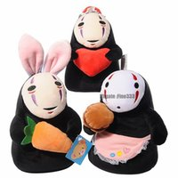 Wholesale toys hayao miyazaki resale online - Studio Ghibli Spirited Away No Face Man Plush Doll Vinyl Action Figure Miyazaki Hayao Anime Kaonashi Model Kids Toys
