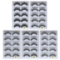 fábrica de cílios postiços venda por atacado-DHL frete grátis 5 pias cílios postiços grossos cílios postiços 5 pares de cílios postiços F810 5pais EyeLashes F820 F830 F840 F850