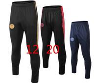 pantalon deportivo de futbol al por mayor-2019 top PSG Mbappe largos pantalones de entrenamiento de fútbol 19 20 París pantalones de movimiento de la bola marseille el Manchester United Football espuelas para pantalones deportivos