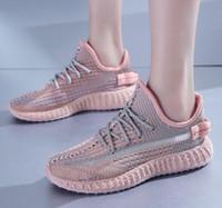 zapatos de angel al por mayor-2019Summer los zapatos corrientes respirables llenos de estrellas zapatos ángel reflectantes marea niñas coco ocasionales Sports Net
