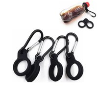 Wholesale bottle clips for sale - Group buy Water Bottle Holder With Hang Buckle Carabiner Clip Key Ring Fit Cola Bottle Shaped For Daily Or Outdoor Use Silicone Carrier ZZA1027