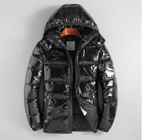 ingrosso piume piuma per abbigliamento-Uomini di alta qualità Casual Uomo Down Jacket Down Coats Mens Warm Feather Coat outwear giacche Abbigliamento invernale maschile