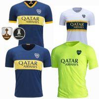 venda uniforme de camisas venda por atacado-Novo 2019 Boca Juniors Casa Camisa de Futebol Azul Profundo 19 20 Temporada Boca Juniors Casa Camisa de Futebol Uniformes de Futebol de Vendas Frete Grátis