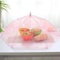 ingrosso ombrello zanzara-35 / 40cm di garza Umbrella alimentari copertura picnic Cucina Anti Fly Mosquito Net tabella tenda Meal Table Cover Strumenti alimentari della copertura della maglia da cucina