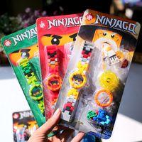 ingrosso orologio kai-Nuovo arrivo Ninja Spinjitzu Sensei Wu Nya Kai Jay Lloyd Cole Watch Building Block Mini Toy Figure