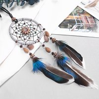 Wholesale feather decorations resale online - Car Pendant Handicrafts Dream Catcher Feather Hanging Car Rearview Mirror Ornament Auto Decoration Accessories For Gifts