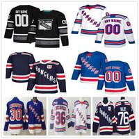 Wholesale youth jerseys new york rangers for sale - Group buy Custom New York Rangers Jesper Fast Jimmy Vesey Brady Skjei Lundqvist Pavel Buchnevich Men Women Kids Youth Hockey Jerseys