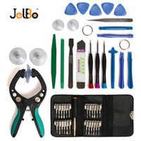 telefon-demontage-kit großhandel-JelBo LCD-Bildschirm Öffnungswerkzeuge Saugnapf Schraubendreher-Set 48 in 1 Handy-Reparatur-Tool-Kit Hebeln Demontage Reparatur-Tool-Set