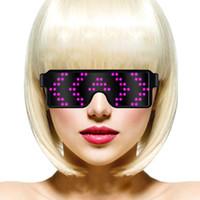 ingrosso applicazioni di luce-2019 Nuovi occhiali da sole LED Magic (no fai-da-te), protezione delle applicazioni, occhiali a emissione di luce, caricamento USB