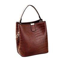 exquisite damen handtaschen groihandel-Frauen Solid Color große Kapazitäts-Leder-Umhängetasche Exquisite Mädchen Original-Handtaschen-elegante Damenmode Handtasche Neue