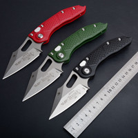 Wholesale nylon fiber knife for sale - Group buy Micro tech M390 blade steel Auto folding knife stonewashed and statin ball bearing penclip nylon fibre handle camping hunting knives