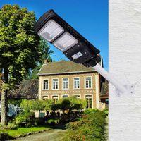 pole straße großhandel-Neue Solar-Straßenleuchte 20 W, 40 W, 60 W, IP65 Integrierter PIR-Bewegungssensor All-in-One-Solar-Straßenleuchte mit Mastfernbedienung
