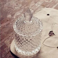 Wholesale candy storage jars resale online - Roman Nordic storage crystal glass jar of sugar pot jewelry decoration furnishing articles wedding desktop candy storage decor