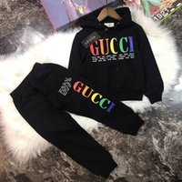 Wholesale baby boy new year suit for sale - Group buy 2019 boy Kids Sets Kids Baby years sells best new autumn boy shirt sweater hoodle jacket boy sports hooded suit color sizes BOFE